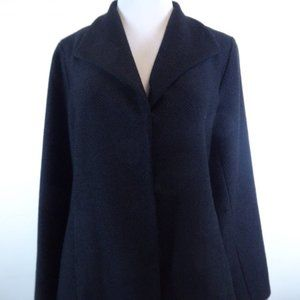 Eileen Fisher wool stretch blend black jacket M